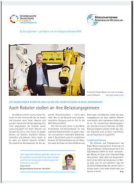 Click here for the article of Bürgschaftsbank NRW in PDF format